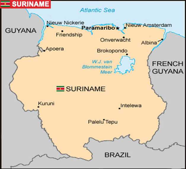 SURINAME CAPTAIN TRADERSJP - paramaribo map